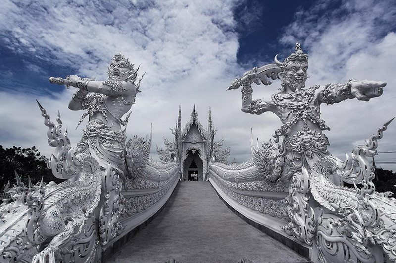 wat rong khun, rong khun temple, white temple