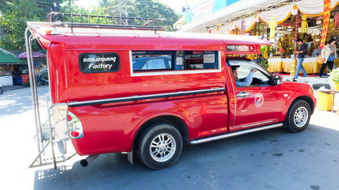 Transport in Chiang Mai, Red Truck, Song Thaew