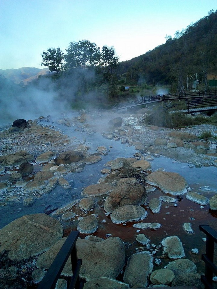muaeng paeng hotspring, hot springs in pai