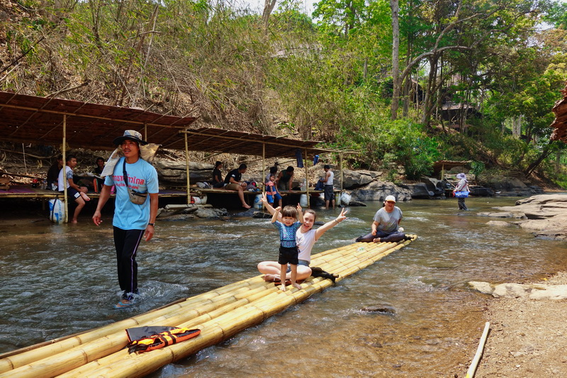 rafting in mae wang, bamboo rafting in mae wang, chiang mai adventures, chiang mai activities