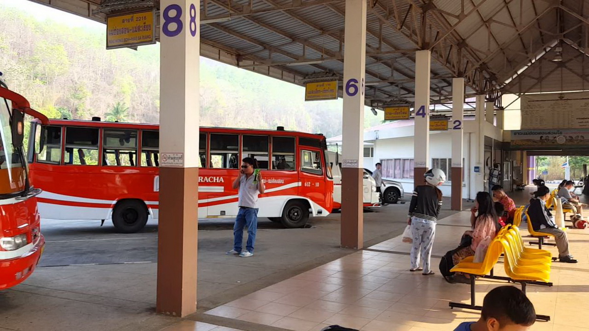 transport in mae hong son, public transport in mae hong son, mae hong son transportation, mae hong son bus terminal, mae hong son bus station