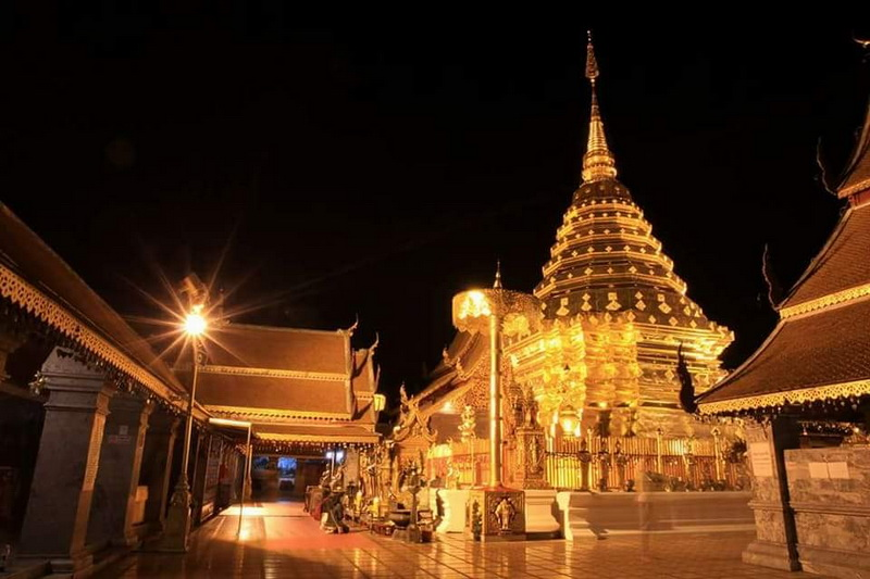special visit doi duthep at night, visit doi duthep at night, tour doi duthep at night